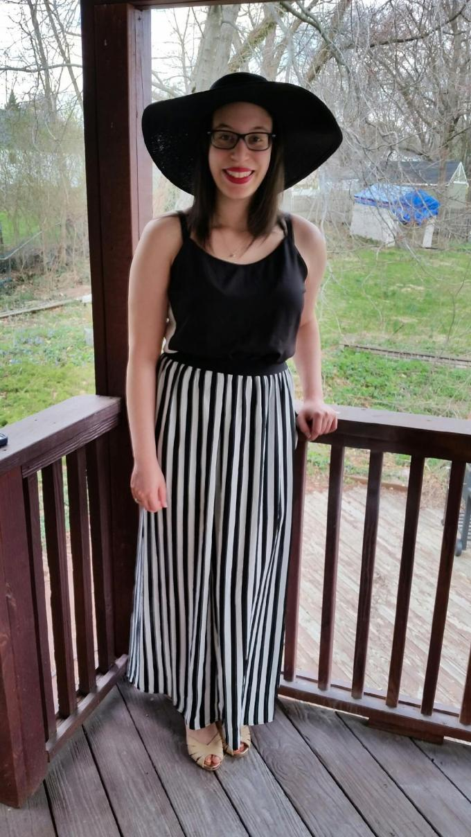 stripes and spring trends on the deck