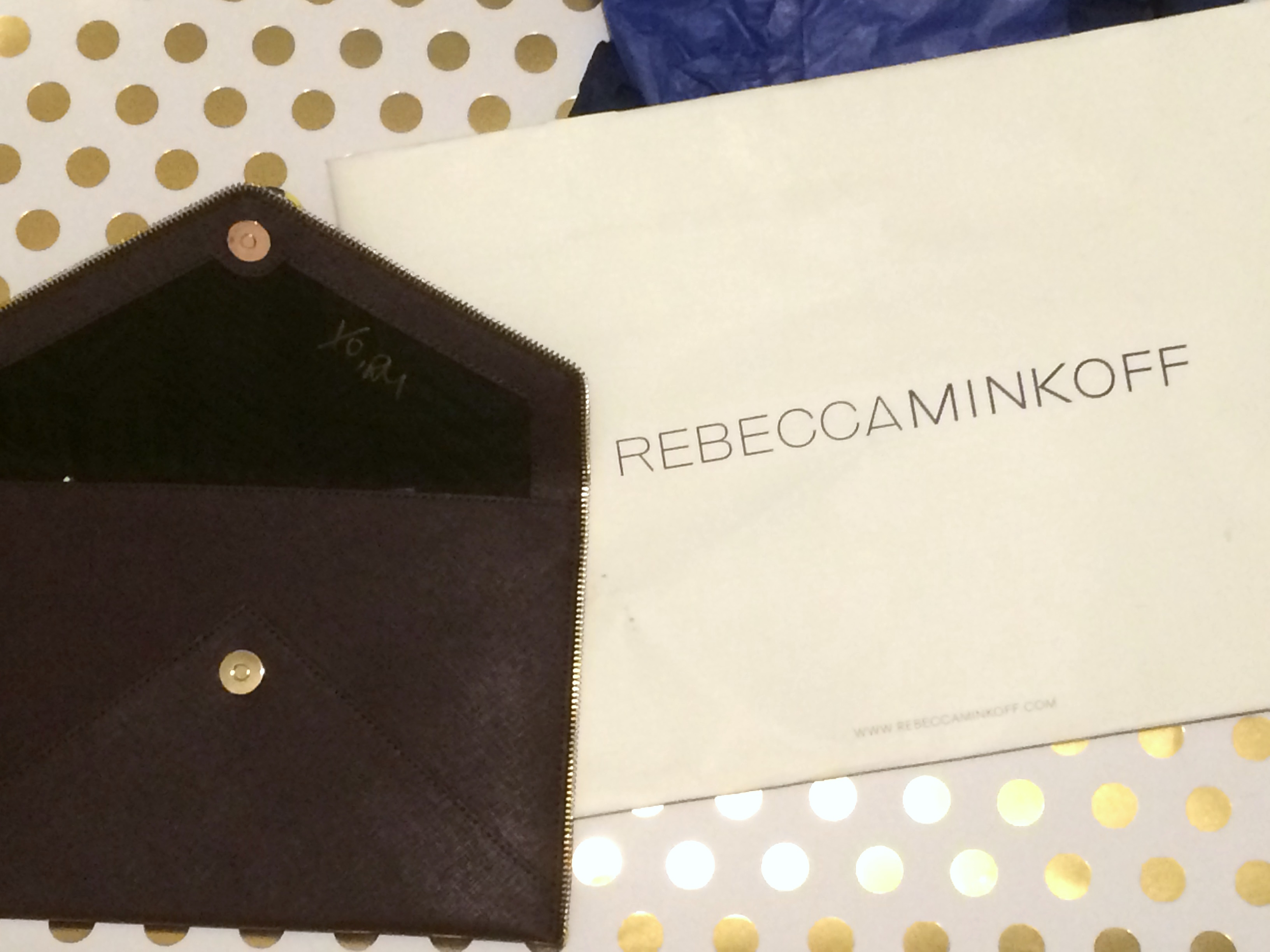 Rebecca Minkoff Fall 2016 signed clutch